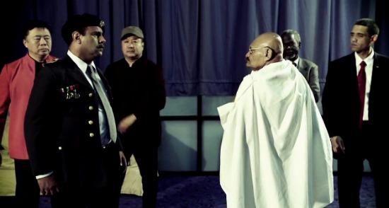 Saddam vs Gandhi