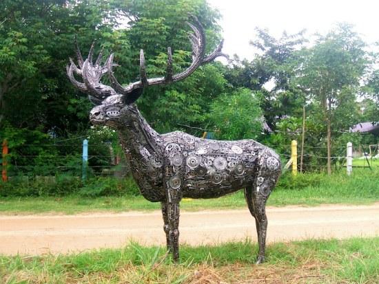 esculturas recicladas