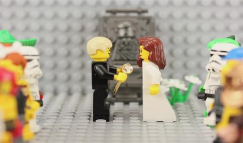 proposta de amor em lego