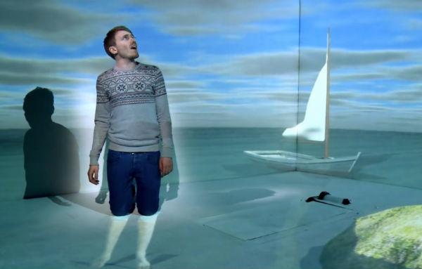 música projeções 3D