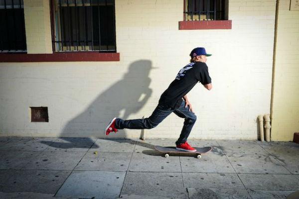 como andar de skate
